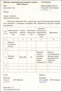 Акт Приема Передачи Учредительных Документов образец